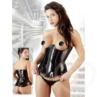 PVC open cup corset