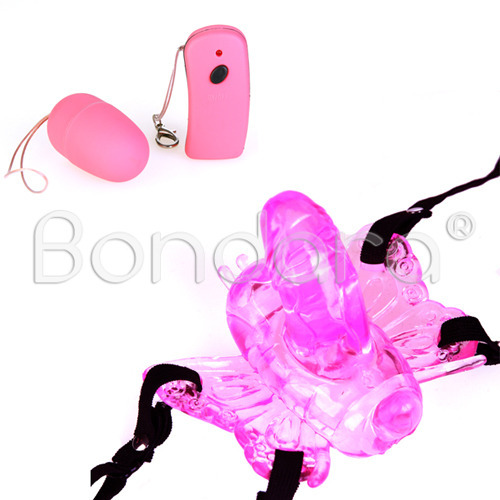 Ultra Feminine Remote Control Strap On Butterfly Vibrator