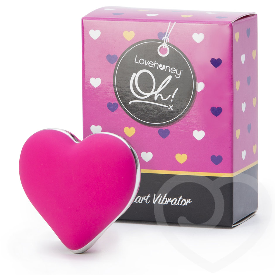 Adorable Heart Shaped USB Clitoral Vibrator
